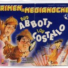 Cine: CRIMEN A MEDIANOCHE, CON BUD ABBOTT Y LOU COSTELLO.. Lote 51239077