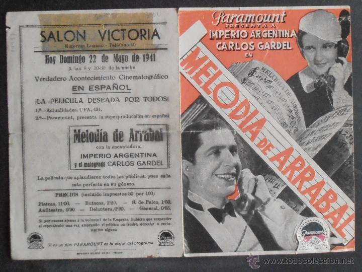 Cine: MELODIA DE ARRABAL,FOLLETO DE MANO,(10957),CONSERVACION,VER FOTOS - Foto 3 - 51246165