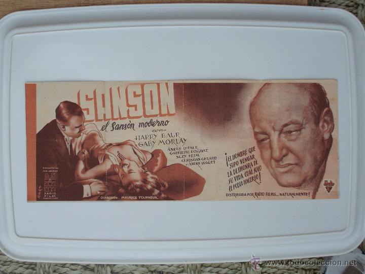 Cine: FOLLETO DE MANO DOBLE-SANSON - AÑO 1939 - Foto 2 - 51254342