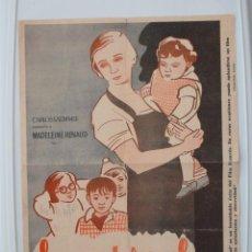 Cine: LA MATERNAL FOLLETO DE MANO TAMAÑO GRANDE CON PBLICIDAD - AÑO 1933. Lote 51254453