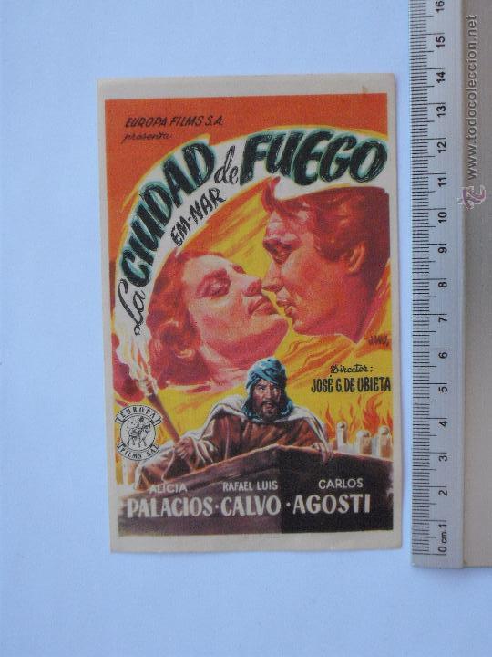 FOLLETO DE MANO - LA CIUDAD DE FUEGO-1950 (Cine - Folletos de Mano - Aventura)