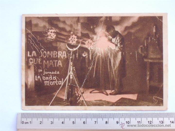 FOLLETO DE MANO DE CARTON -LA SOMBRA QUE MATA-1933 (Cine - Folletos de Mano - Aventura)