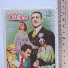 Cine: FOLLETO DE MANO -LOS SOBRINOS DEL ZORRO-1953. Lote 51355736