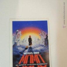 Cine: MOMO PROGRAMA ADHESIVO - MICHAEL ENDE JOHANNES SCHAAF JOHN HUSTON. Lote 51361095
