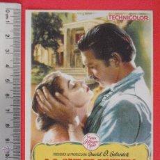 Cine: FOLLETO DE MANO - LO QUE EL VIENTO SE LLEVO-1951. Lote 51372547