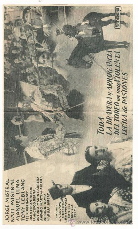 Cine: *CURRITO DE LA CRUZ* - PEPIN M. VAZQUEZ - PROG. DOBLE. PUBLICIDAD CINEMA ALHAMBRA (ZARAGOZA) - Foto 2 - 51376932