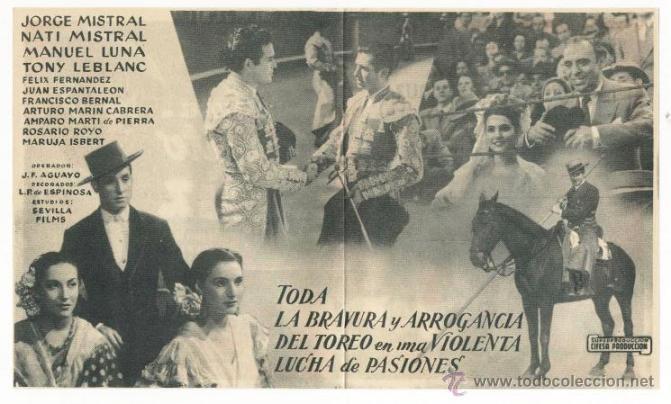 Cine: *CURRITO DE LA CRUZ* - PEPIN M. VAZQUEZ - PROG. DOBLE. PUBLICIDAD CINEMA ALHAMBRA (ZARAGOZA) - Foto 3 - 51376932