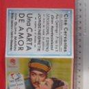 Cine: FOLLETO DE MANO DOBLE - UNA CARTA DE AMOR-1947. Lote 51377994