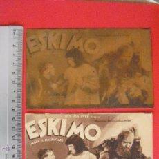 Cine: FOLLETO DE MANO -CARTON- ESKIMO-1935. Lote 51401823