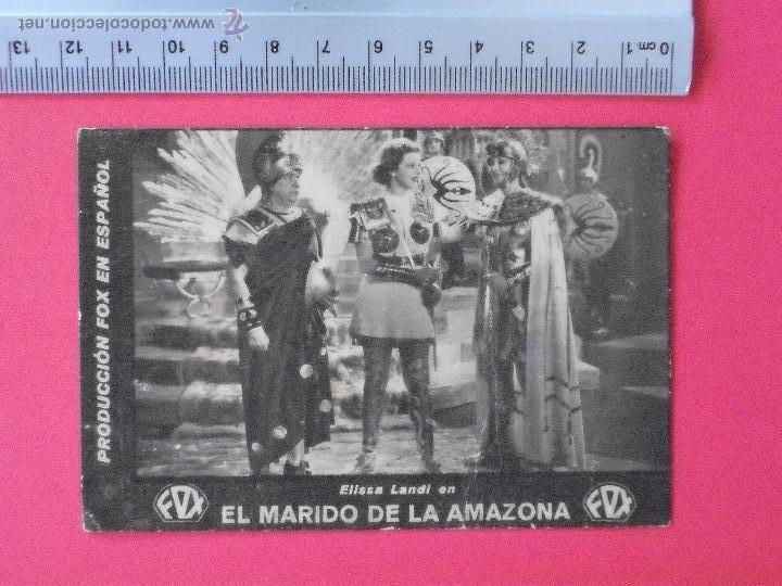 FOLLETO DE MANO -CARTON- EL MARIDO DE LA AMAZONA-1934- (Cine - Folletos de Mano - Comedia)