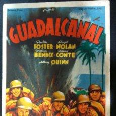 Cine: GUADALCANAL - SENCILLO FOX -SALON NOVEDADES 1945. Lote 51434538