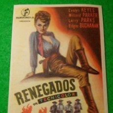 Cine: PROGRAMA DE CINE RENEGADOS CINEMA PROYECCIONES. Lote 51438463