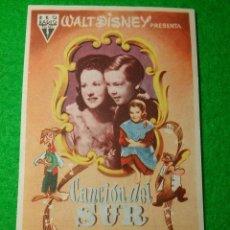Folhetos de mão de filmes antigos de cinema: PROGRAMA DE CINE CANCION DEL SUR CINEMA PROYECCIONES. Lote 51443234