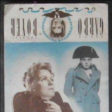 Cine: MARIA WALESWSKA,FOLLETO DE MANO,(11068),CONSERVACION,VER FOTOS. Lote 51508374