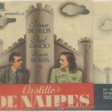 Folhetos de mão de filmes antigos de cinema: PROGRAMA DOBLE DE CINE: CASTILLO DE NAIPES PC-3149. Lote 51515940