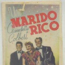 Cine: PROGRAMA DOBLE DE CINE: MARIDO RICO PC-3191. Lote 51539503