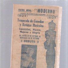 Cine: PROGRAMA DE TEATRO. TEATRO MOVIL (CIRCO). MODERNO. AÑOS 60. CUBA. NOBLEZA GUAJIRA. LEER. Lote 51556723