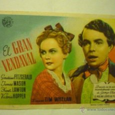 Cine: PROGRAMA EL GRAN VENDAVAL .-JAMES MASON-PUBLICIDAD CINE MARAVILLA. Lote 51563366