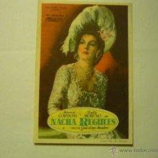 Cine: PROGRAMA NACHA REGULES-ARTURO DE CORDOBA-ZULLY MORENO -PUBLICIDAD. Lote 51570473