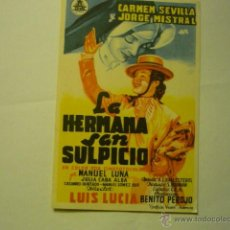 Cine: PROGRAMA LA HERMANA SAN SULPICIO.-CARMEN SEVILLA ---J.MISTRAL ---BB. Lote 51570815
