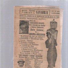 Cine: PROGRAMA TEATRO. TEATRO PORTATIL (CIRCO). SANABRIA. 28 JULIO 1965. CUBA. LA NIÑA DE MIS OJOS. LEER. Lote 51573210