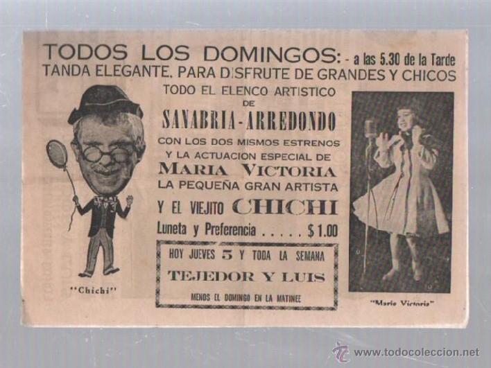 Cine: PROGRAMA TEATRO. TEATRO PORTATIL (CIRCO). SANABRIA. 11 AGOSTO 1965. CUBA. ARREDONDO EN LA LUNA. LEER - Foto 2 - 51573272
