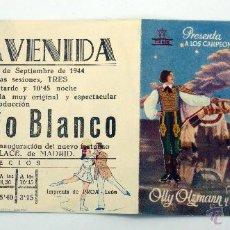 Cine: EL SUEÑO BLANCO PROGRAMA MANO DOBLE CAMPEONES PATINAJE CINE AVENIDA MADRID 1944 . Lote 51579552