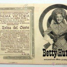 Cine: LA REINA DEL OESTE PROGRAMA MANO DOBLE BETTY HUTTON CINEMA VICTORIA 1951 . Lote 51580046