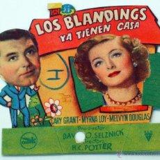 Cine: LOS BLANDINGS YA TIENEN CASA PROGRAMA MANO TROQUELADO MYRNA LOY CARY GRANT TEATRO TRUEBA . Lote 51580267
