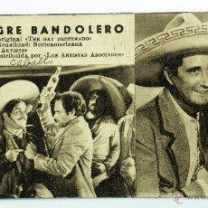 Cine: EL ALEGRE BANDOLERO PROGRAMA MANO FICHA PELÍCULA THE GAY DESPERADO SIN PUBLICIDAD. Lote 51580822