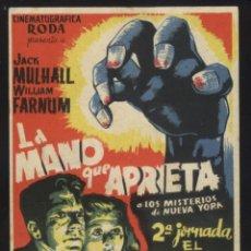 Cine: P-5661- LA MANO QUE APRIETA (2ª JORNADA: EL ENEMIGO INVISIBLE) TEATRO EDESA - PONFERRADA. Lote 115311098