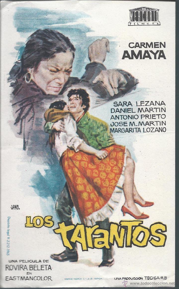 7875- FOLLETO DE MANO DE CINE- LOS TARANTOS (Cine - Folletos de Mano - Drama)