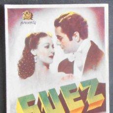 Folhetos de mão de filmes antigos de cinema: SUEZ,FOLLETO DE MANO (11119),CONSERVACION,VER FOTOS. Lote 51584104