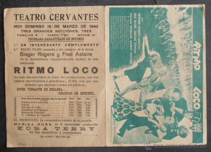 Cine: RITMO LOCO,FOLLETO DE MANO (11707),CONSERVACION,VER FOTOS - Foto 2 - 51628040