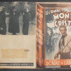 Cine: EL CONDE DE MONTECRISTO,FOLLETO DE MANO (11680),CONSERVACION,VER FOTOS. Lote 51628540