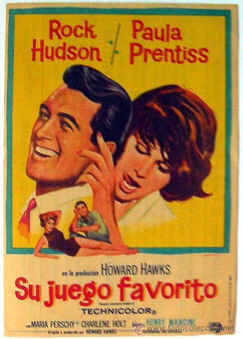 CINE IMPERIAL CINEMA PROGRAMA DE MANO SU JUEGO FAVORITO ROCK HUDSON CALLOSA DE SEGURA ALICANTE, VER (Cine - Folletos de Mano - Comedia)