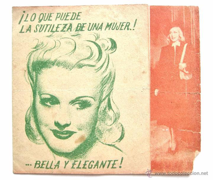 PROGRAMA DOBLE *ARDID FEMENINO* 1941 GINGER ROGERS JAMES STEWART. COLISEUM ZAMORA (Cine - Folletos de Mano - Comedia)