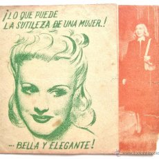 Cine: PROGRAMA DOBLE *ARDID FEMENINO* 1941 GINGER ROGERS JAMES STEWART. COLISEUM ZAMORA. Lote 51650076
