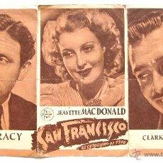 Cine: PROGRAMA DOBLE *SAN FRANCISCO* 1941 CLARK GABLE SPENCER TRACY JEANETTE MACDONALD. TEATRO BRETÓN. Lote 51650871