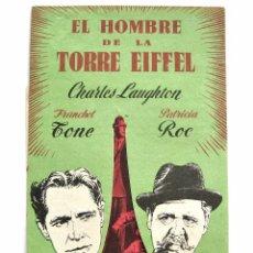 Cine: PROGRAMA DOBLE TROQUELADO *EL HOMBRE DE LA TORRE EIFFEL* CHARLES LAUGHTON FRANCHOT TONE. CINE GULLÓN. Lote 51651982