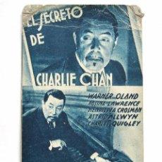 Cine: PROGRAMA TARJETA FOX *EL SECRETO DE CHARLIE CHAN* WARNER OLAND. CINE TORENO OVIEDO ASTURIAS. Lote 51652663