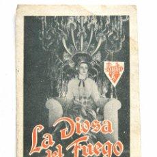 Cine: PROGRAMA SENCILLO *LA DIOSA DE FUEGO* HELEN GAHAGAN RANDOLPH SCOTT. CINE SANTA CRUZ OVIEDO ASTURIAS. Lote 51652803