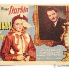 Cine: PROGRAMA SENCILLO *LA DAMA DEL TREN* 1946 DIANA DURBIN DAVID BRUCE. CINE MARI LEÓN. Lote 51652871