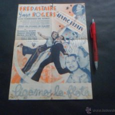SIGAMOS LA FLOTA PROGRAMA DOBLE GRANDE - RKO FRED ASTAIRE GINGER ROGERS -TEATRO SERRANO DE CATARROJA