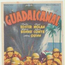 Cine: GUADALCANAL. SOLIGÓ. SENCILLO DE 20TH CENTURY FOX.. Lote 51666837