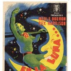 Cine: FOLLETO MANO EN LA LUNA. MERLE OBERON Y REX HARRISON. AÑO 1944. Lote 51671814