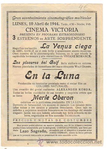 Cine: FOLLETO MANO EN LA LUNA. MERLE OBERON Y REX HARRISON. AÑO 1944 - Foto 2 - 51671814
