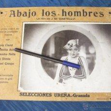 Cine: FOTOGRAMA DE LA PELICULA MUSICAL ABAJO LOS HOMBRES. CASTELLVI. SELECCIONES UREÑA. GRANADA. Lote 51675879