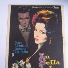 Flyers Publicitaires de films Anciens: LA BELLA LOLA SARA MONTIEL MAC FOLLETO DE MANO ORIGINAL ESTRENO . Lote 51688553