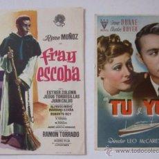 Cine: FRAY ESCOBA Y TU Y YO - CINE EDISON DE MANLLEU. Lote 51701813
